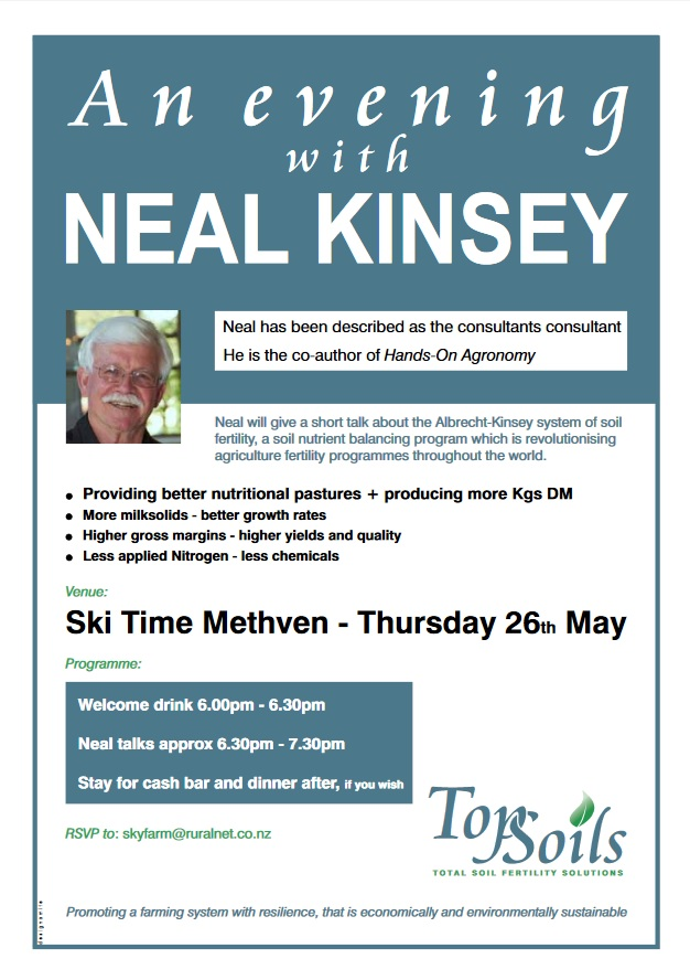 An evening with Neal Kinsey
